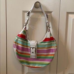 Women's Coach handbag-white/lavender